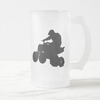ATV FROSTED GLASS BEER MUG