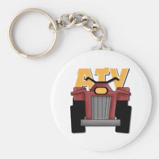 ATV Gift For Kids Basic Round Button Keychain