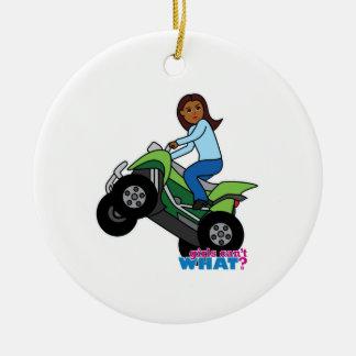 ATV Girl Ceramic Ornament