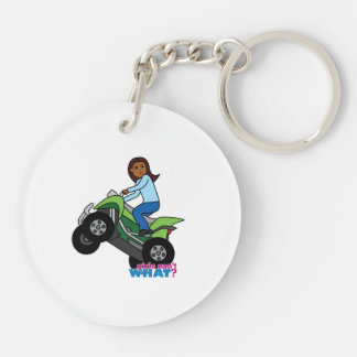 ATV Girl Keychain