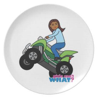 ATV Girl Dinner Plates