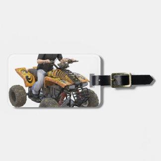 ATV Gold  Mud  Rider Luggage Tag
