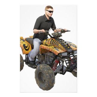 ATV Gold  Mud  Rider Stationery
