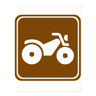 ATV Highway Sign Postcard