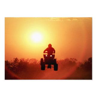 ATV Jumping at Sunset Card