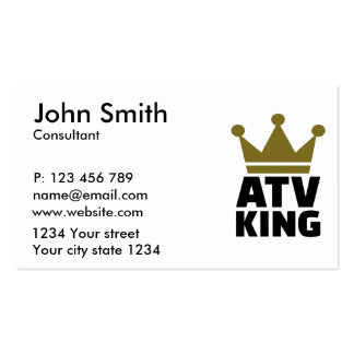 ATV king Business Card