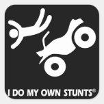ATV mis propios trucos Calcomanías Cuadradass