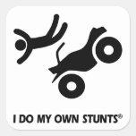 ATV mis propios trucos Calcomanías Cuadradass Personalizadas