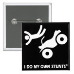 ATV My Own Stunts 2 Inch Square Button