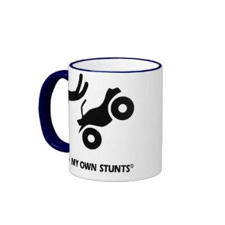 ATV My Own Stunts Ringer Coffee Mug