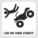 ATV My Own Stunts Square Stickers