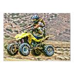 """ATV Off Road Running 5"""" X 7"""" Invitation Card"""