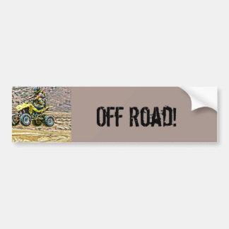ATV Off Road Running Car Bumper Sticker