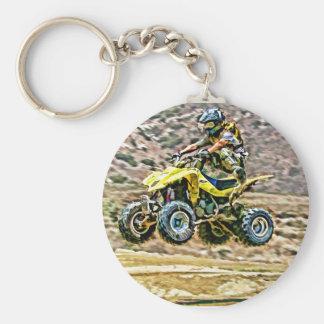 ATV Off Road Running Keychain
