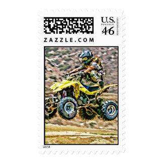 ATV Off Road Running Postage Stamp