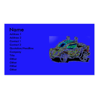 Atv on Front Mustang on Back Double-Sided Standard Business Cards (Pack Of 100)