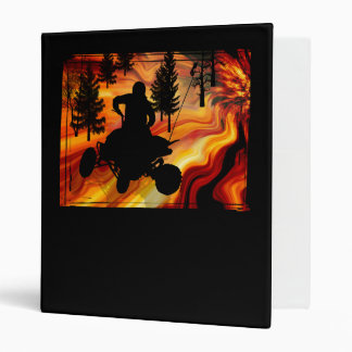 ATV on the Road from Hell Vinyl Binders