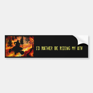ATV on the Road from Hell Bumper Sticker