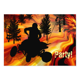 ATV on the Road from Hell Card