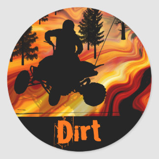 ATV on the Road from Hell Classic Round Sticker