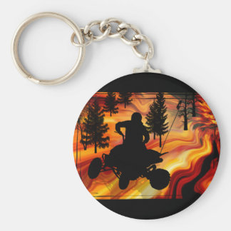 ATV on the Road from Hell Keychain