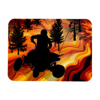 ATV on the Road from Hell Magnet