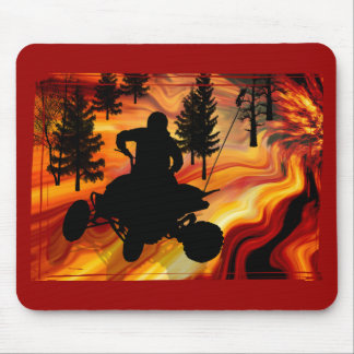 ATV on the Road from Hell Mouse Pad