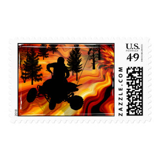 ATV on the Road from Hell Postage Stamp