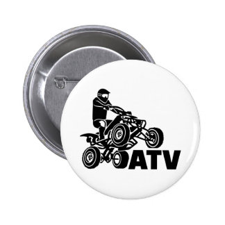 ATV PINBACK BUTTON