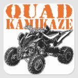 ATV Quad Kamikaze Square Stickers