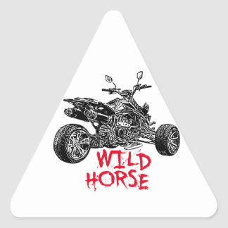 ATV race Triangle Sticker