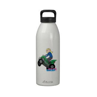 ATV Rider - Blonde Drinking Bottles