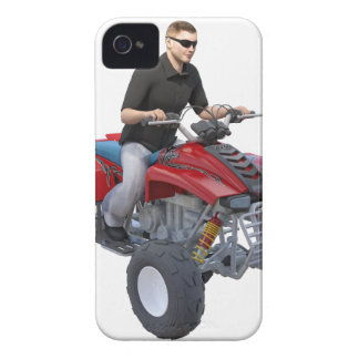 ATV Rider in red iPhone 4 Cover