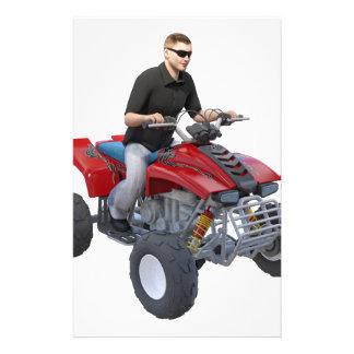 ATV Rider in red Stationery
