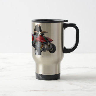 ATV Rider in red Travel Mug