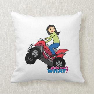 ATV Rider - Medium Throw Pillows