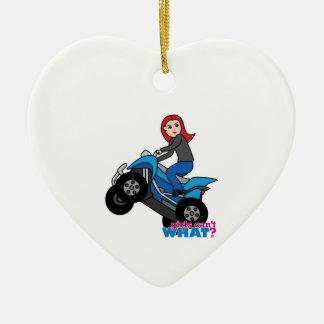 ATV Rider - Red Ceramic Ornament