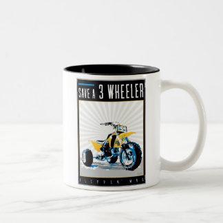 ATV - Save a 3 Wheeler Two-Tone Coffee Mug