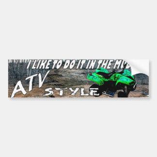 ATV STYLE STICKER CAR BUMPER STICKER
