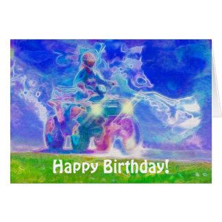 ATV toda la tarjeta de cumpleaños de la diversión