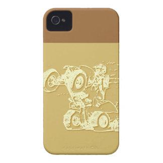 ATV Wheelie in Tan iPhone 4 Covers