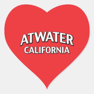 Atwater California Heart Sticker