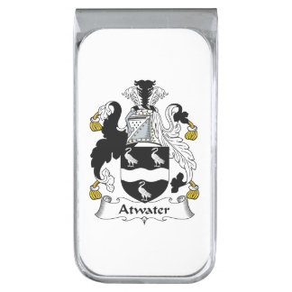 Atwater Family Crest Silver Finish Money Clip