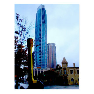 ATX Downtown with Guitar Post Cards