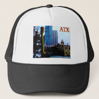 ATX Downtown with Guitar Trucker Hat