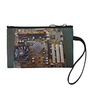ATX motherboard view from above Coin Purses