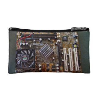 ATX motherboard view from above Makeup Bags