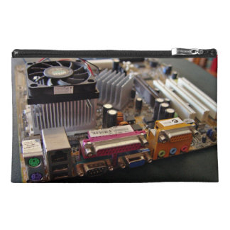 ATX motherboard view from connector edge Travel Accessory Bags