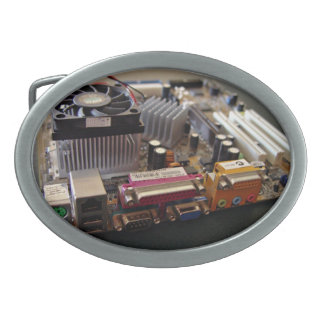 ATX motherboard view from connector edge Oval Belt Buckles