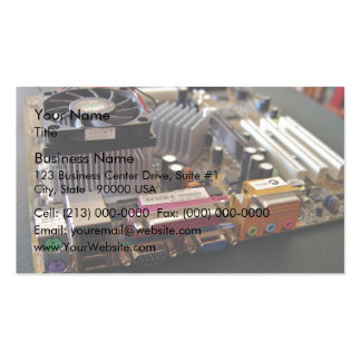 ATX motherboard view from connector edge Business Card